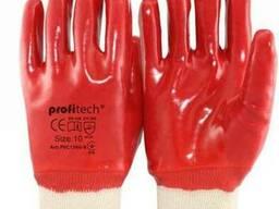 Перчатки рабочие полное покрытие пвх марка proitech