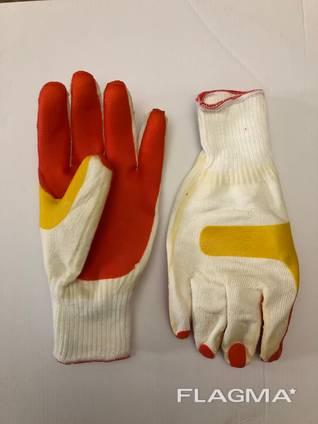 Перчатки рабочие стекольщика с латексным покрытием