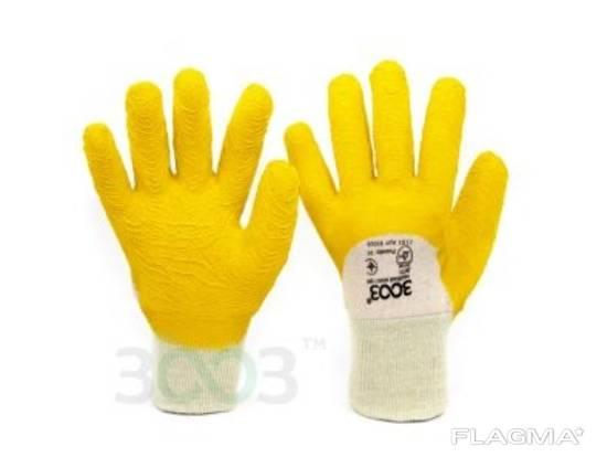 Перчатки рабочие утепленные со вспененным латексным покрытием 3/4, вязаный манжет