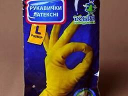 Перчатки резиновые хозяйственные прочные