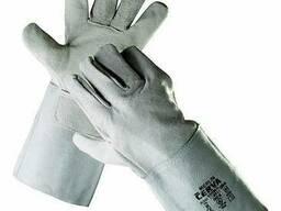 Перчатки с манжетами спилковые для слесарей
