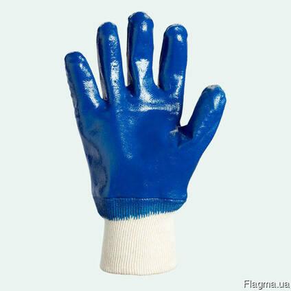 Перчатки с нитриловым покрытием, вязаный манжет
