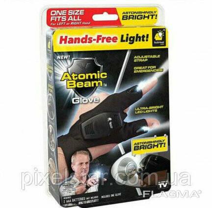Перчатки с подсветкой hand-free light