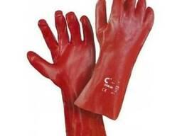 Перчатки с покрытием ПВХ, длинной 35 см, рабочие, защитные