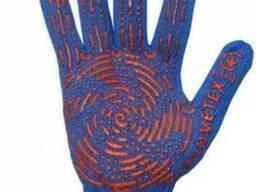 Перчатки трикотажные , синие, 7 кл. , 88 гр.