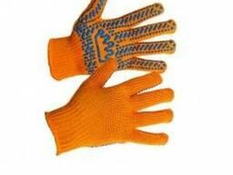 """Перчатки рабочие """"Корона"""" оранжевые, 5612"""