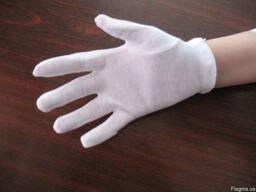 Перчатки шитые для официантов белые