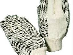 Перчатки текстильные сшитые с ПВХ точкой