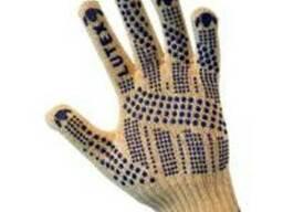Перчатки трикотажные уплотненные с ПВХ-точкой