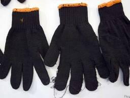 Перчатки рабочие, перчатки второй сорт, перчатки трикотажные