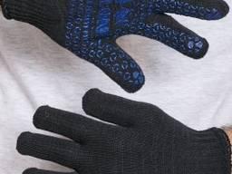 Перчатки трикотажные двойные с ПВХ точками