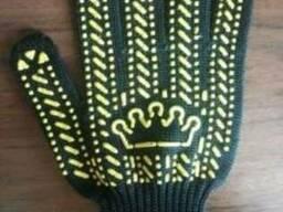 Перчатки трикотажные с ПВХ- точкой
