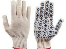 Перчатки трикотажные с ПВХ точкой К143