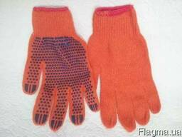 Перчатки трикотажные с ПВХ точкой (Польша)