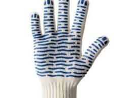 Перчатки трикотажные с ПВХ точкой Волна