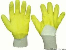 Перчатки трикотажные с резиновым покрытием