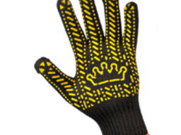 Перчатки трикотажные с точечным ПВХ нанисением.