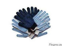 Перчатки трикотажные строительные в ассортименте