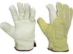 Рабочие перчатки спилковые зимние