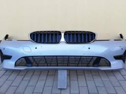 Передний бампер BMW 3 G20 комплектный под парктроники