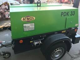 Передвижной дизельный компрессор ATMOS PDK 33 - 5 кубов