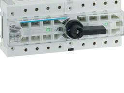 Переключатель модульный трехпозиционный Hager HI406R I-0-II до 50 мм2, 4п 125А , 400/690В