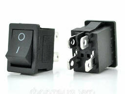 Переключатель ON-OFF KCD1-104, 250VAC / 6A, 4 контакта, Black, Q100