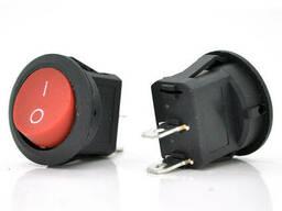 Переключатель ON-OFF KCD1-201, 250VAC / 6A, 2 контакта, Red, Q200
