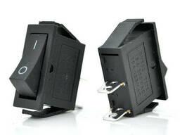 Переключатель ON-ON KCD3-102, 250VAC / 6A, 2 контакта, Black, Q200