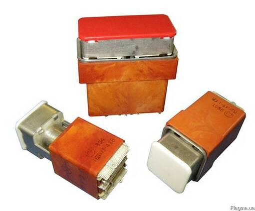 Переключатели кнопочные П2П1Т -1, П4П2Т -2, П3П1Т-3, П2П1Т-4