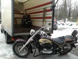 Перевозка байков, мотоцыклов. Перевозка скутера. Гидроборт.