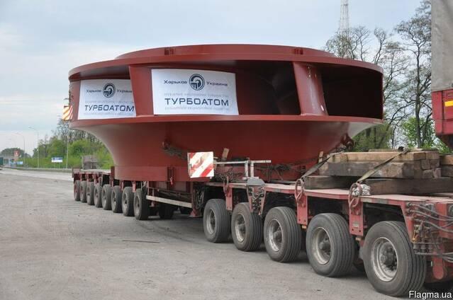 Перевозка негабарита 4-осным тралом, 60 тонн