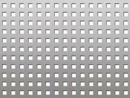 Лист перфорированный черный с квадратными отверстиями