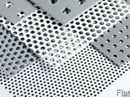 Лист перфорированный алюминиевый 1 мм алюминий