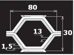 Перфорированный лист TC ME80/30x13x1, 5/1000x2000
