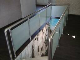 Перила алюминиевые со стеклом