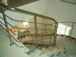 Перила и лестницы из нержавейки и черной стали