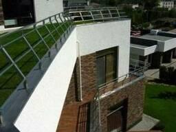 Перила из квадратной нержавеющей трубы для лестницы, крыши