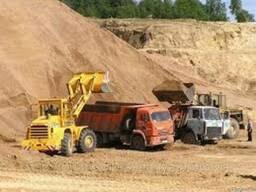 Песок беляевского карьера для строительства, дорожных работ