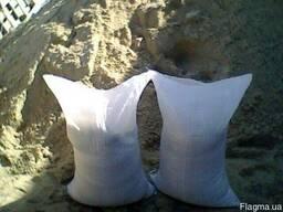 Песок карьерный и речной фасованый (50кг)