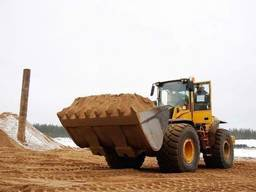 Песок крупнозернистый строительный