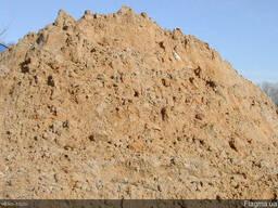 Песок овражный мытый.