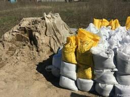 Песок в мешках пісок в мішках щебень отсев відсів цемент