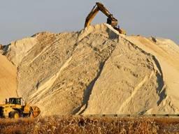 Песок речной. Доставка самосвалом, или в мешках по 50 кг.