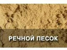 Песок речной, овражный в мешках и насыпью