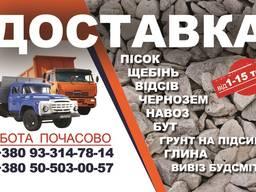 Вывоз мусора строительного - Буча, Ирпень, Гостомель, Пуща
