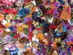 ПЭТ флекс ПЭТ хлопья PET 01 микс, рассортированные по цветам