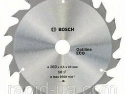 Пила дисковая по дереву Bosch 160x20/16x18z Optiline ECO