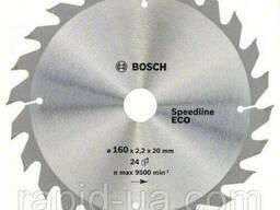 Пила дисковая по дереву Bosch 160x20/16x24z Speedline ECO