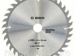 Пила дисковая по дереву Bosch 160x20/16x36z Optiline ECO